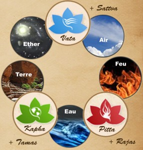 5 elements et 3 doshas